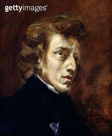 <b>Title</b> : Frederic Chopin (1810-49) 1838 (oil on canvas)<br><b>Medium</b> : oil on canvas<br><b>Location</b> : Louvre, Paris, France<br> - gettyimageskorea