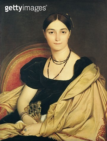 <b>Title</b> : Portrait of Madame Antonia de Vaucay (or Devaucay) nee de Nittis, 1807 (oil on canvas)<br><b>Medium</b> : oil on canvas<br><b>Location</b> : Musee Conde, Chantilly, France<br> - gettyimageskorea