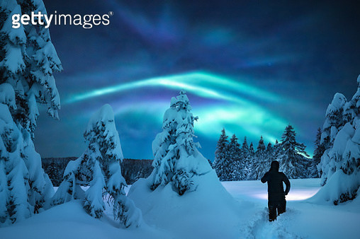 Winter Night Adventure - gettyimageskorea