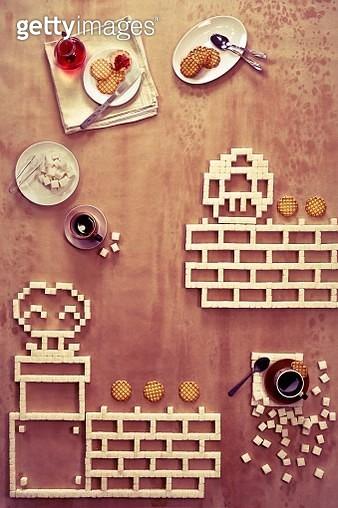 8 bit teatime (Super Mario Bros. )_part 1 - gettyimageskorea