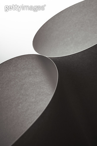 Abstract Paper Curve Light and Shadow Toned Image - gettyimageskorea