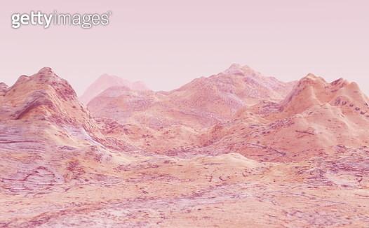 Surreal rocky landscape background - gettyimageskorea