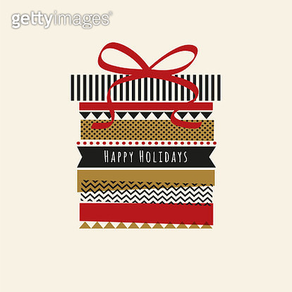 Holiday card with Washi Tape. - gettyimageskorea