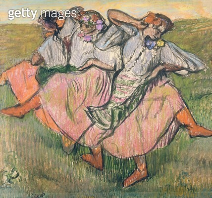 <b>Title</b> : Three Russian Dancers (pastel on paper)<br><b>Medium</b> : pastel on paper<br><b>Location</b> : Nationalmuseum, Stockholm, Sweden<br> - gettyimageskorea