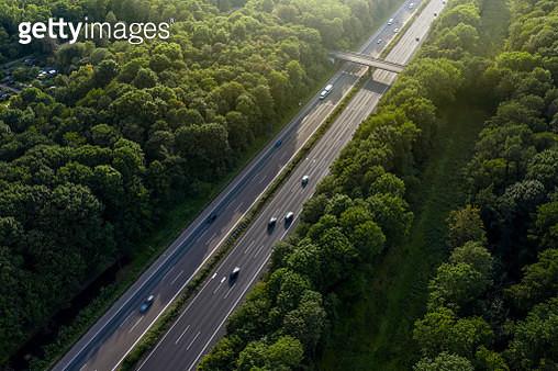 Traffic on Autobahn A4 near Cologne, North Rhine-Westphalia, Germany, Germany - gettyimageskorea
