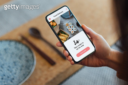 Ordering Food Online At Home With Smartphone - gettyimageskorea