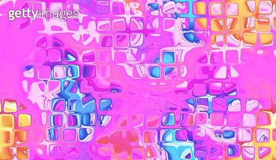 Abstract Morphing Rounded Squares Violet Yellow and Blue Shapes Background - gettyimageskorea