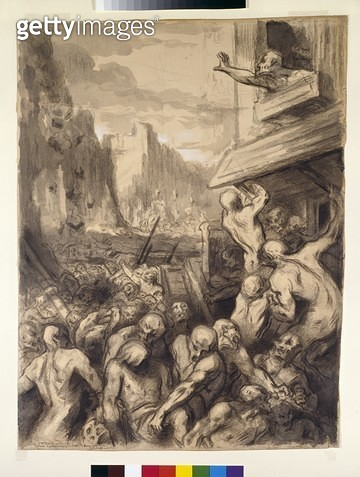 <b>Title</b> : The Destruction of Sodom, c.1850 (w.c and gouache on paper)<br><b>Medium</b> : watercolour and gouache on paper<br><b>Location</b> : Ashmolean Museum, University of Oxford, UK<br> - gettyimageskorea