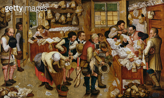 <b>Title</b> : The Payment of the Tithes, 1615 (oil on panel)<br><b>Medium</b> : oil on panel<br><b>Location</b> : Private Collection<br> - gettyimageskorea