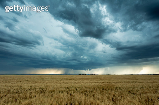 Driving along high way 363 , south of Moose Jaw. Prairie storm approaching. Image taken from a tripod. - gettyimageskorea