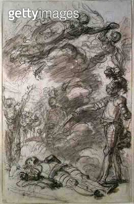 <b>Title</b> : Orlando returns Bireno to Olympia (chalk and wash on paper)<br><b>Medium</b> : chalk and wash on paper<br><b>Location</b> : Private Collection<br> - gettyimageskorea