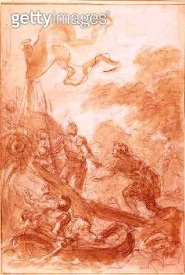 <b>Title</b> : Orlando leaves the Island (chalk and wash on paper)<br><b>Medium</b> : chalk and wash on paper<br><b>Location</b> : Private Collection<br> - gettyimageskorea