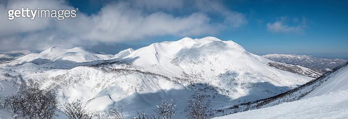 panoramic winter view in Niseko Ski Resort - gettyimageskorea