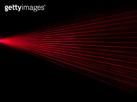 Alarm of beams laser connected only visible for the human eye if there is smoke. Photo of study. - gettyimageskorea