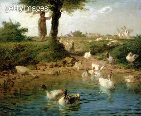 <b>Title</b> : The Goosegirl, c.1866 (oil on canvas)<br><b>Medium</b> : oil on canvas<br><b>Location</b> : Tokyo Fuji Art Museum, Tokyo, Japan<br> - gettyimageskorea