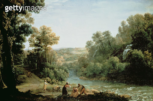 <b>Title</b> : Wooded Landscape with a Brook, 1630 (oil on canvas)<br><b>Medium</b> : oil on canvas<br><b>Location</b> : Tokyo Fuji Art Museum, Tokyo, Japan<br> - gettyimageskorea