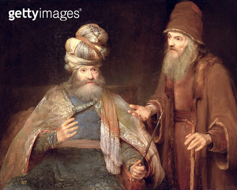 <b>Title</b> : Nathan admonishes King David, 1683 (oil on canvas)<br><b>Medium</b> : oil on canvas<br><b>Location</b> : Tokyo Fuji Art Museum, Tokyo, Japan<br> - gettyimageskorea