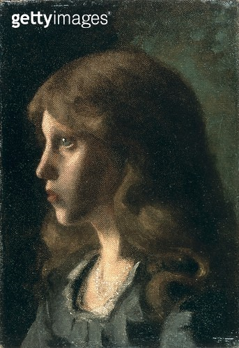 <b>Title</b> : Profile of a Girl, c.1880 (oil on canvas)<br><b>Medium</b> : oil on canvas<br><b>Location</b> : Tokyo Fuji Art Museum, Tokyo, Japan<br> - gettyimageskorea