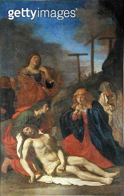 <b>Title</b> : Christ Removed from the Cross (oil on canvas)Additional InfoLe Christ Detache de la Croix;<br><b>Medium</b> : oil on canvas<br><b>Location</b> : Musee Conde, Chantilly, France<br> - gettyimageskorea