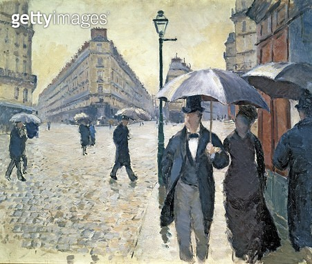 <b>Title</b> : Paris, a Rainy Day, 1877 (oil on canvas) (see 181504)<br><b>Medium</b> : oil on canvas<br><b>Location</b> : Musee Marmottan, Paris, France<br> - gettyimageskorea