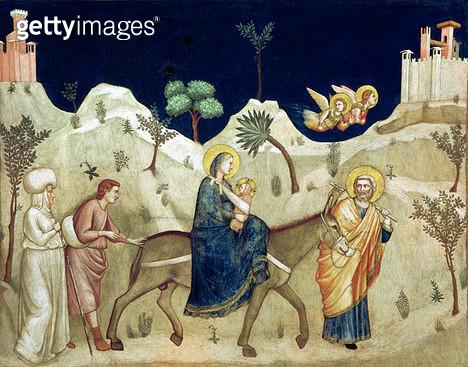 <b>Title</b> : The Flight into Egypt (fresco)<br><b>Medium</b> : fresco<br><b>Location</b> : San Francesco, Lower Church, Assisi, Italy<br> - gettyimageskorea