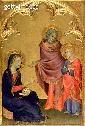 Christ Discovered in the Temple (egg tempera on panel) - gettyimageskorea