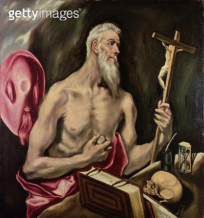 St. Jerome (oil on canvas) - gettyimageskorea