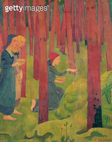 <b>Title</b> : The Incantation, or The Holy Wood, 1891 (oil on canvas)<br><b>Medium</b> : oil on canvas<br><b>Location</b> : Musee des Beaux-Arts, Quimper, France<br> - gettyimageskorea