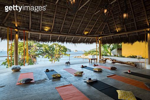 Mexico, Puerto Vallarta, Mismaloya, Luxury yoga retreat - gettyimageskorea