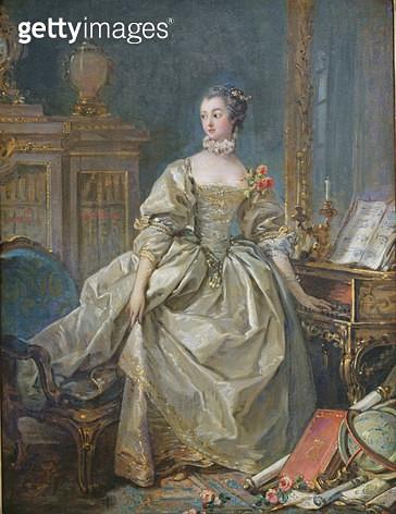 <b>Title</b> : Madame de Pompadour (1721-64) (oil on canvas)<br><b>Medium</b> : oil on canvas<br><b>Location</b> : Louvre, Paris, France<br> - gettyimageskorea