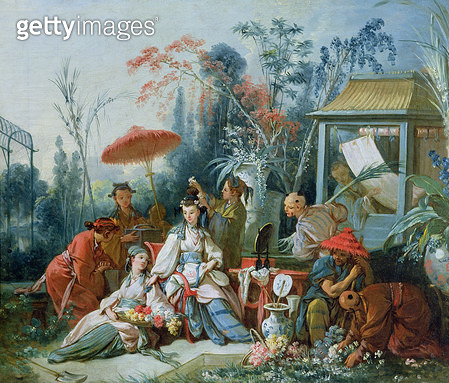 <b>Title</b> : The Chinese Garden, c.1742 (oil on canvas)<br><b>Medium</b> : oil on canvas<br><b>Location</b> : Musee des Beaux-Arts, Besancon, France<br> - gettyimageskorea