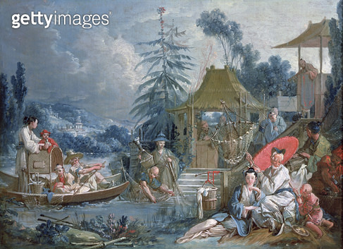 <b>Title</b> : The Chinese Fishermen, c.1742 (oil on canvas)<br><b>Medium</b> : oil on canvas<br><b>Location</b> : Musee des Beaux-Arts, Besancon, France<br> - gettyimageskorea