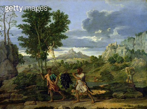 <b>Title</b> : Autumn, or the Bunch of Grapes Taken from the Promised Land, 1660-64 (oil on canvas)<br><b>Medium</b> : oil on canvas<br><b>Location</b> : Louvre, Paris, France<br> - gettyimageskorea