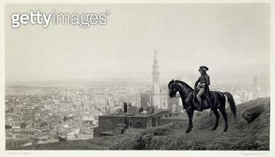 <b>Title</b> : General Bonaparte at Cairo, from 'A Collection of Works of Jean-Leon Gerome in 100 Photogravures', 1881 (photogravure)<br><b>Medium</b> : <br><b>Location</b> : Dahesh Museum of Art, New York, USA<br> - gettyimageskorea