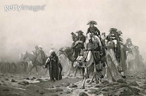 <b>Title</b> : General Bonaparte in Egypt, from 'A Collection of Works of Jean-Leon Gerome in 100 Photogravures', 1881 (photogravure) (see also<br><b>Medium</b> : photogravure<br><b>Location</b> : Dahesh Museum of Art, New York, USA<br> - gettyimageskorea
