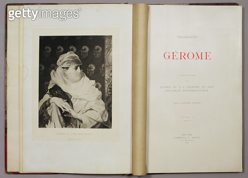 <b>Title</b> : Woman of Constantinople, from 'A Collection of the Works of Jean-Leon Gerome in 100 Photogravures', 1881 (photogravure)<br><b>Medium</b> : photogravure<br><b>Location</b> : Dahesh Museum of Art, New York, USA<br> - gettyimageskorea