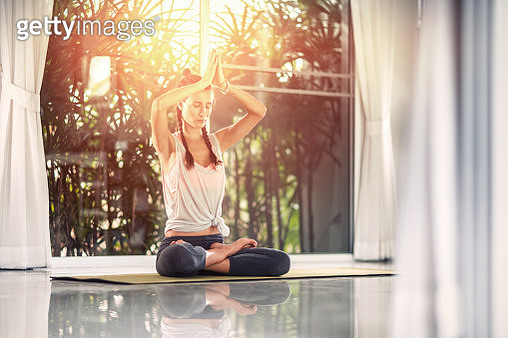 Yoga exercises at home - gettyimageskorea