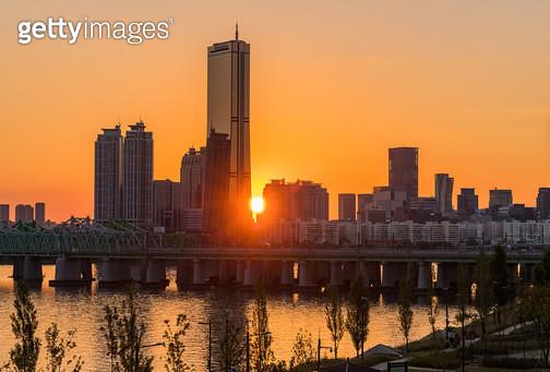 한강철교 틴들현상, 서울시 용산구 이촌동 - gettyimageskorea
