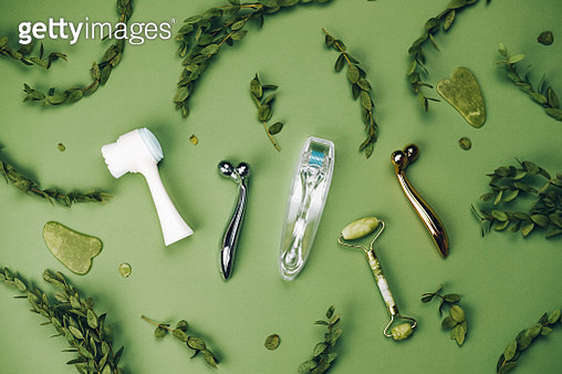 Facial massagers on a light background. - gettyimageskorea