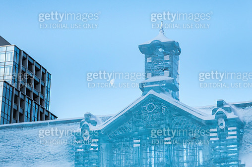 Sapporo Snow Festival Ice Building - gettyimageskorea