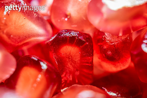 Red pomegranate seeds make beautiful patterns - gettyimageskorea