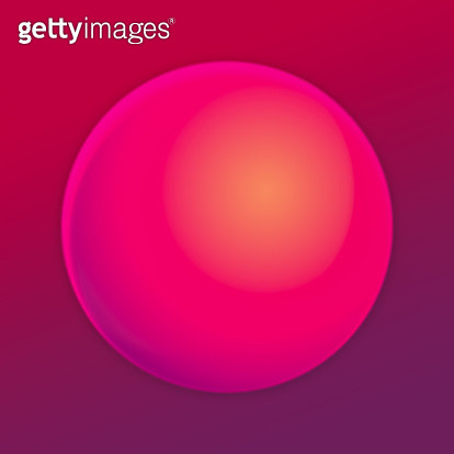 Red gradient sphere in abstract background. - gettyimageskorea