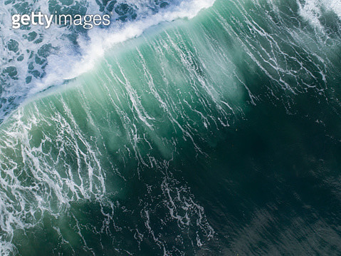 Aerial view of big wave on the sea at Bali,Indonesia - gettyimageskorea