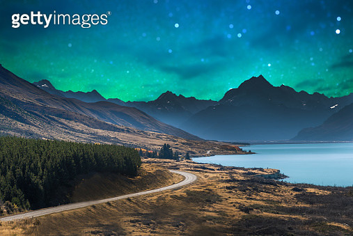 Panoramic nature landscape in south island New Zealand with milky way - gettyimageskorea