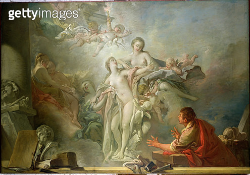 <b>Title</b> : Pygmalion and Galatea (oil on canvas)<br><b>Medium</b> : oil on canvas<br><b>Location</b> : Hermitage, St. Petersburg, Russia<br> - gettyimageskorea