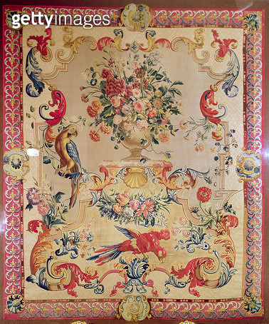 Tapestry in early Rococo style with strapwork and acanthus leaves by Joshua Morris/ 1720s - gettyimageskorea