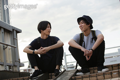 Millennial men who are living in the suburban city in Japan - gettyimageskorea