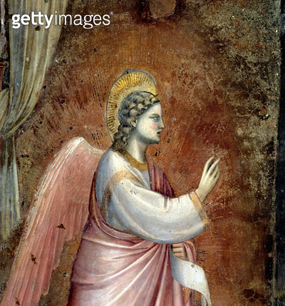 The Annunciation/ detail of the Angel Gabriel/ from the lunette above the altar/ c.1305 (fresco) (detail of 97841) - gettyimageskorea