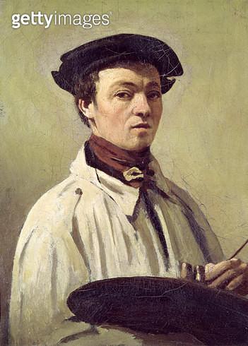 <b>Title</b> : Self Portrait, c.1840 (oil on canvas)<br><b>Medium</b> : oil on canvas<br><b>Location</b> : Galleria degli Uffizi, Florence, Italy<br> - gettyimageskorea