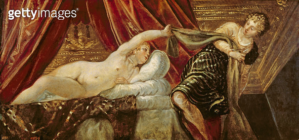 <b>Title</b> : Joseph and the Wife of Potiphar (oil on canvas)<br><b>Medium</b> : oil on canvas<br><b>Location</b> : Prado, Madrid, Spain<br> - gettyimageskorea